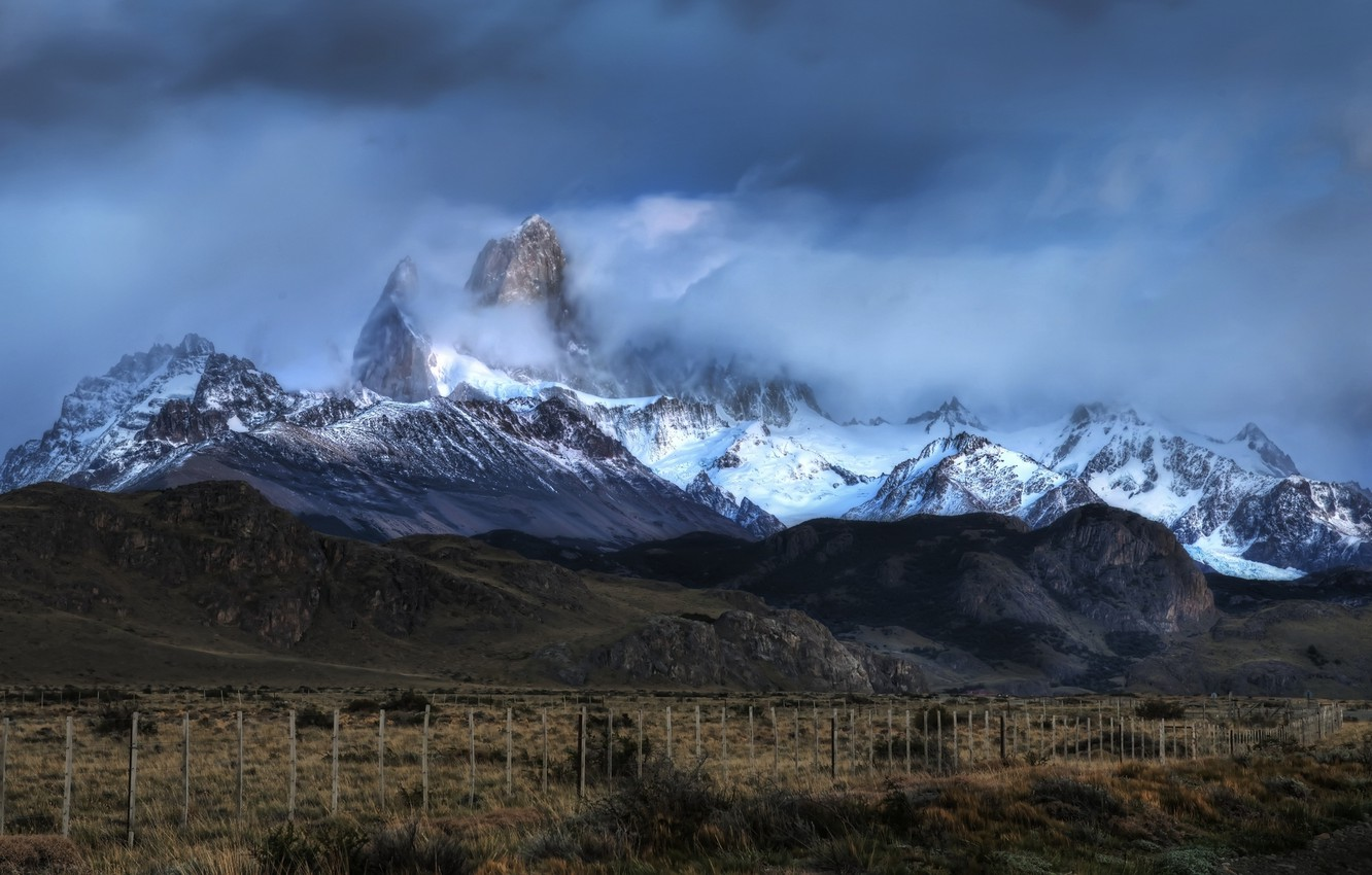 Photo wallpaper clouds, mountains, Argentina