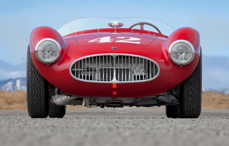 Photo wallpaper Maserati, Red, Front