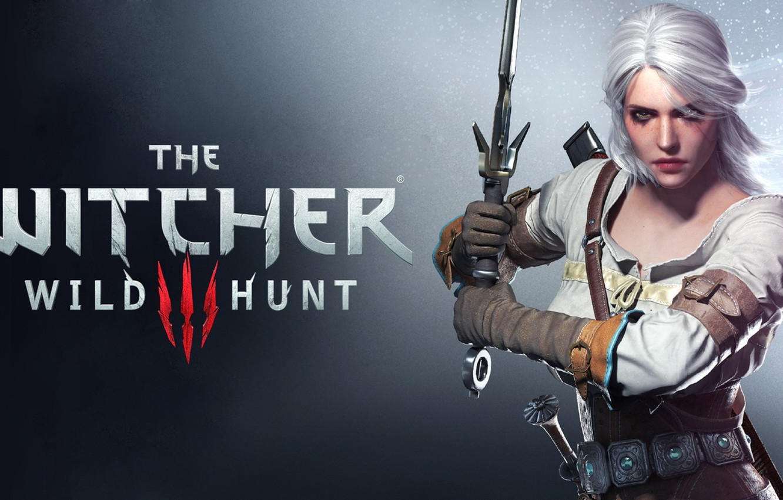 Photo wallpaper Girl, sword, Sword, The Witcher, CD Projekt RED, The Witcher 3: Wild Hunt, The Witcher …