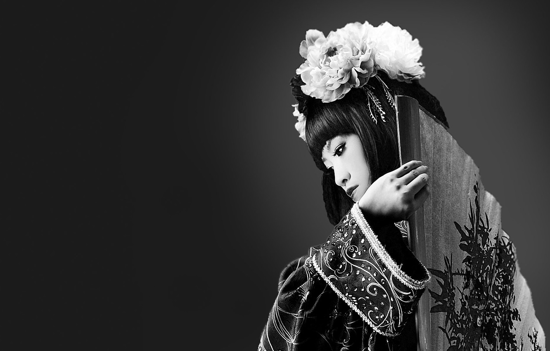 Photo wallpaper girl, style, photo, background, Wallpaper, Japan, fan, h\b, culture