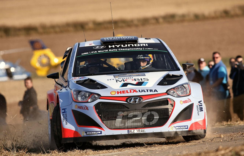 Photo wallpaper Hyundai, Germany, WRC, Rally, The front, i20