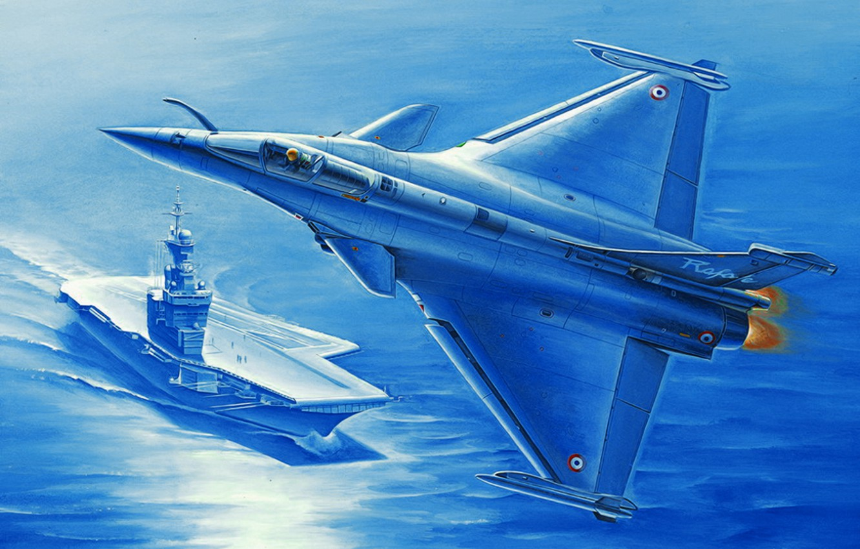Wallpaper art, painting, jet, Dassault Rafale images for ...