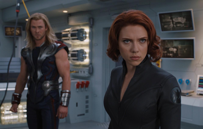 Wallpaper Team Agent Scarlett Johansson Marvel