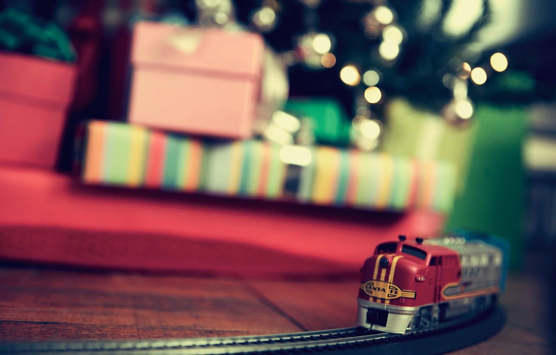 Photo wallpaper holiday, toys, gifts, Christmas Wallpaper