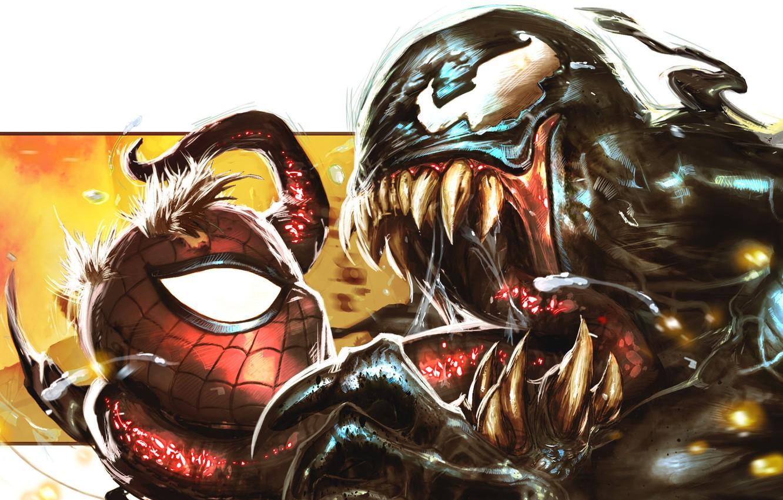 Photo wallpaper Marvel Comics, Spider-Man, Venom, symbiote