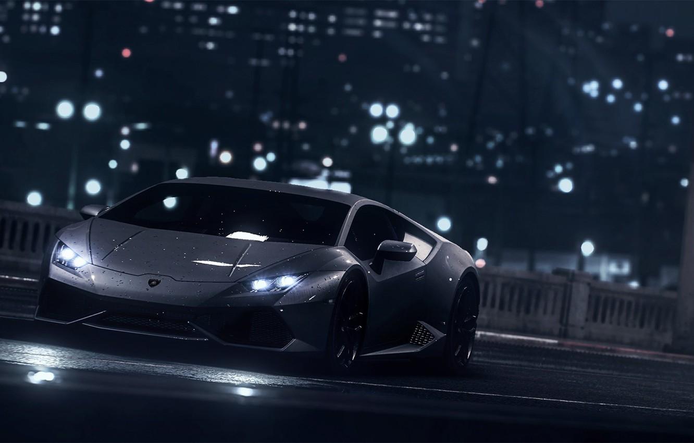 Wallpaper Lamborghini Dark Front Black Water Color Supercar