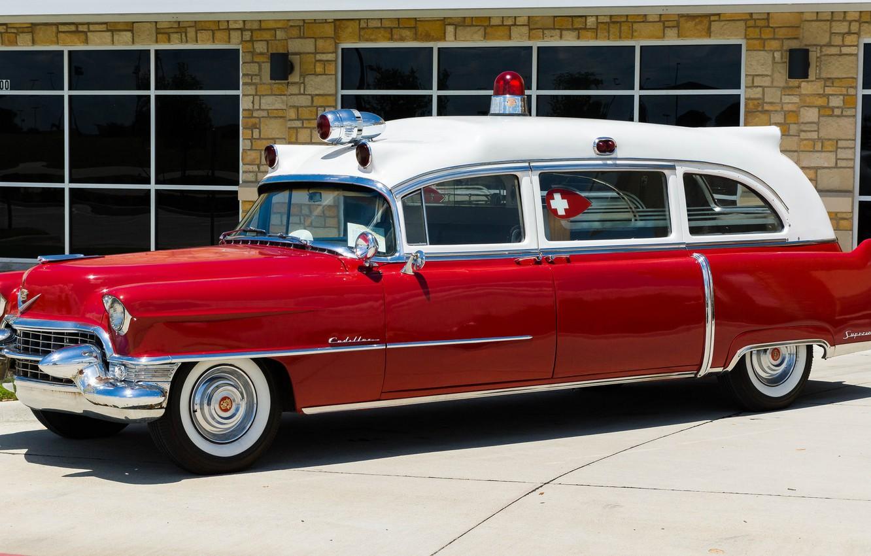 Photo wallpaper retro, Cadillac, classic, classic car, Ambulance