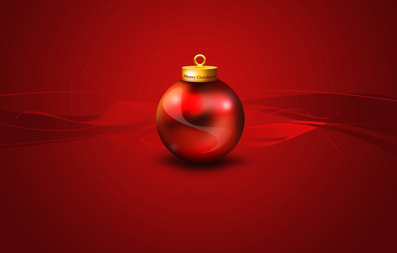 Photo wallpaper ball, New Year, Christmas, decoration