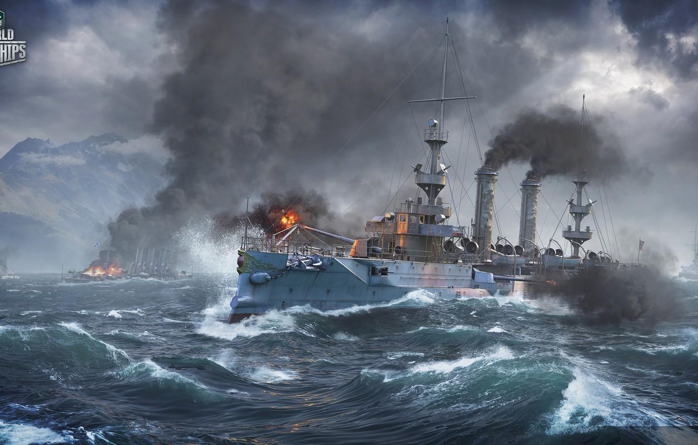 Photo wallpaper Ships, Albany, World of Warships, worldofwarships