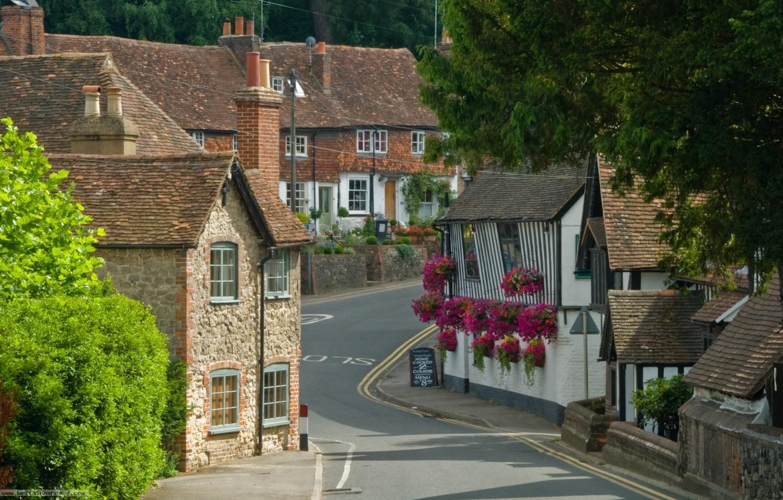 Photo wallpaper England, Kent, village, UK, houses, County