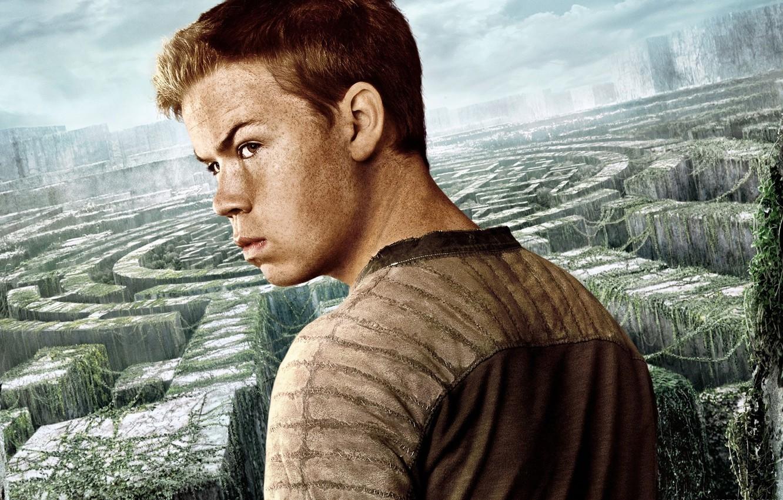 Photo wallpaper cinema, sky, man, boy, survivor, face, labyrinth, british, film, vegetation, 2014, The Maze Runner, Will …