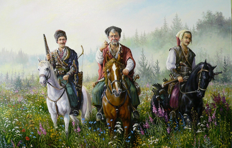 Photo wallpaper smile, art, Cossacks, Andrey Lyakh