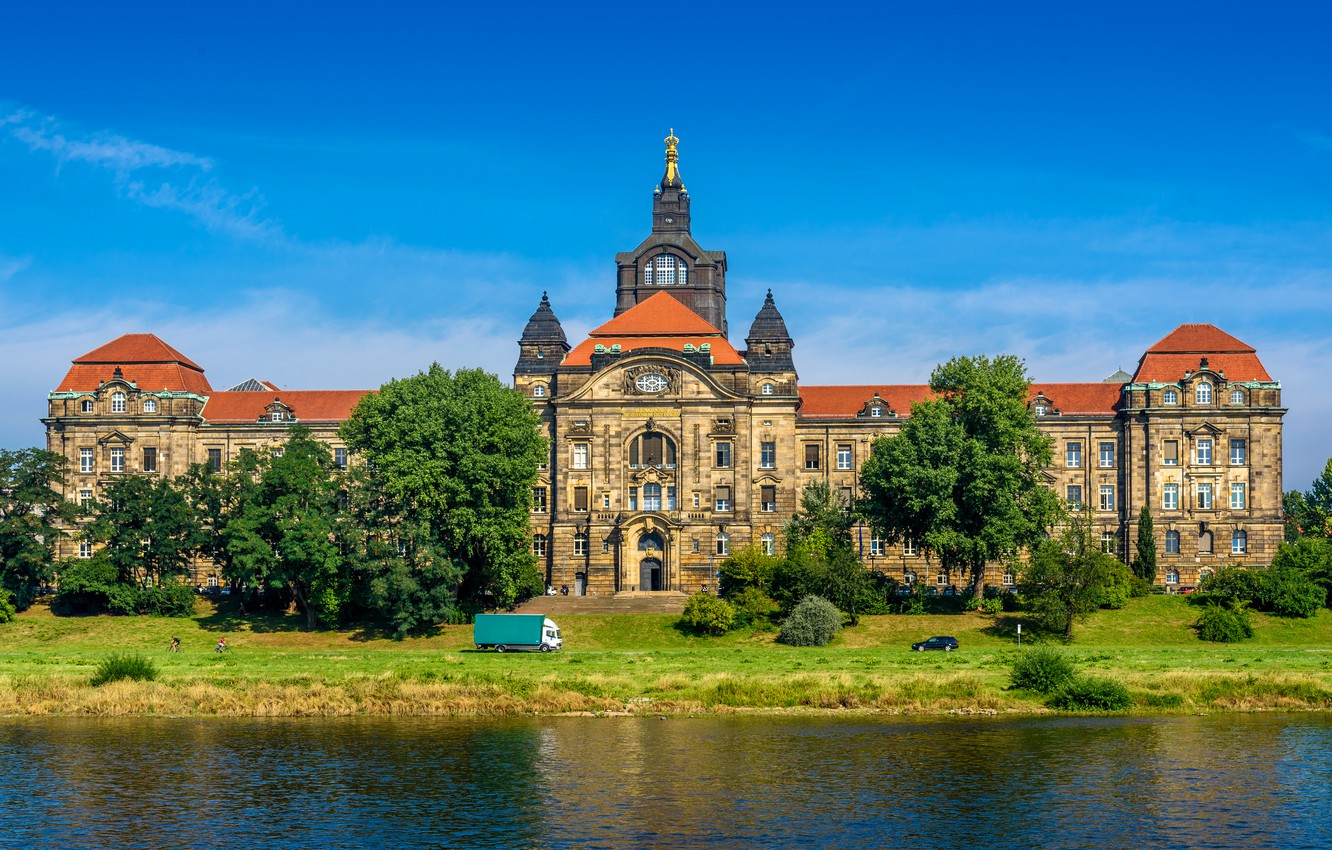 Photo wallpaper the building, Germany, Dresden, architecture