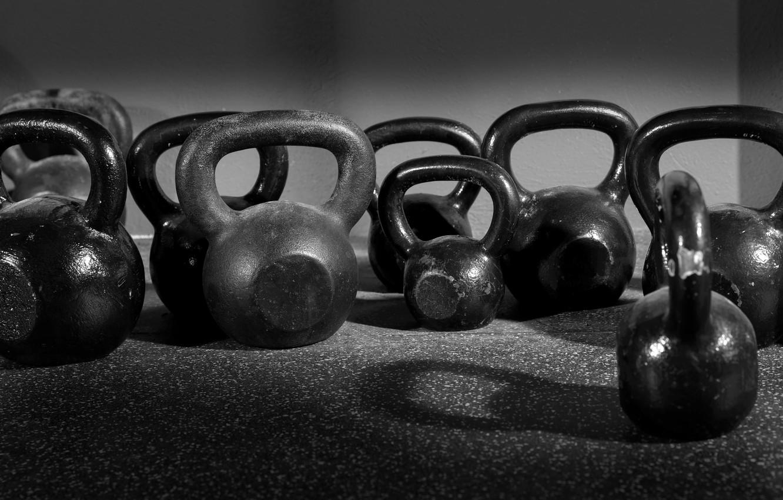 Photo wallpaper fitness, crossfit, kettlebell