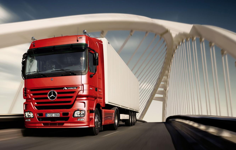 Photo wallpaper truck, mercedes, new, tractor, actros