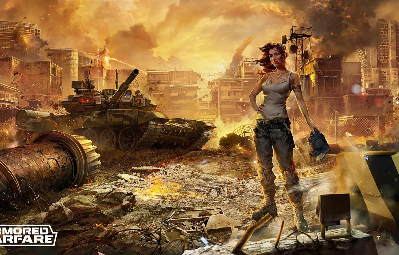 Photo wallpaper games, art, Armored Warfare