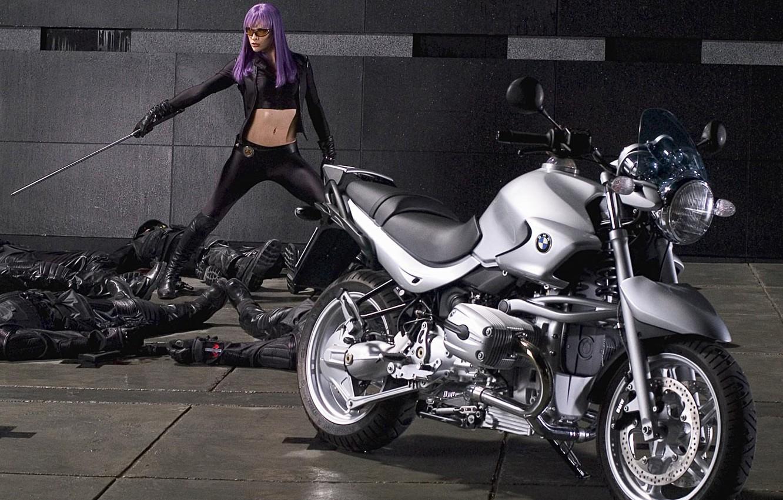 Photo wallpaper Aunt, Sword, Bike, Ultraviolet