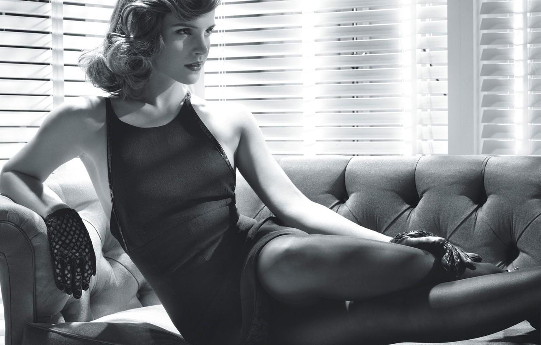 Photo wallpaper celebrity, girls, black and white, Emma Watson