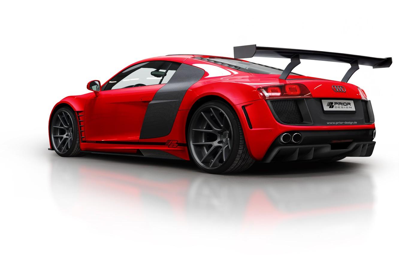 Photo wallpaper car, audi, red, 2012, GT850