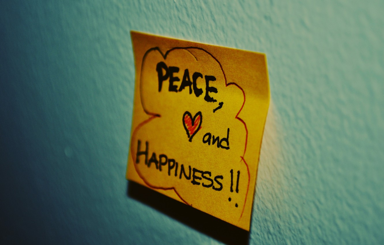 Photo wallpaper mood, heart, note, sticker, words, the phrase, mood