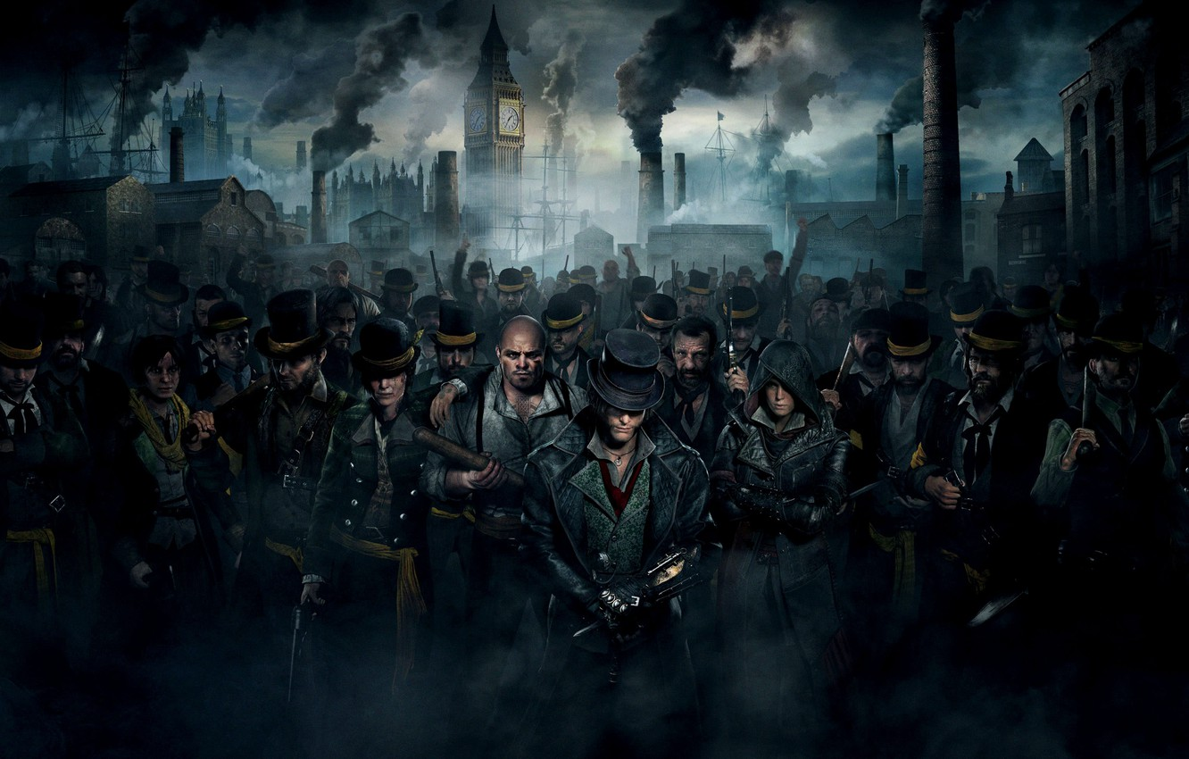 Photo wallpaper pipe, smile, weapons, people, smoke, the crowd, home, port, cane, Big Ben, beard, gang, hats, …