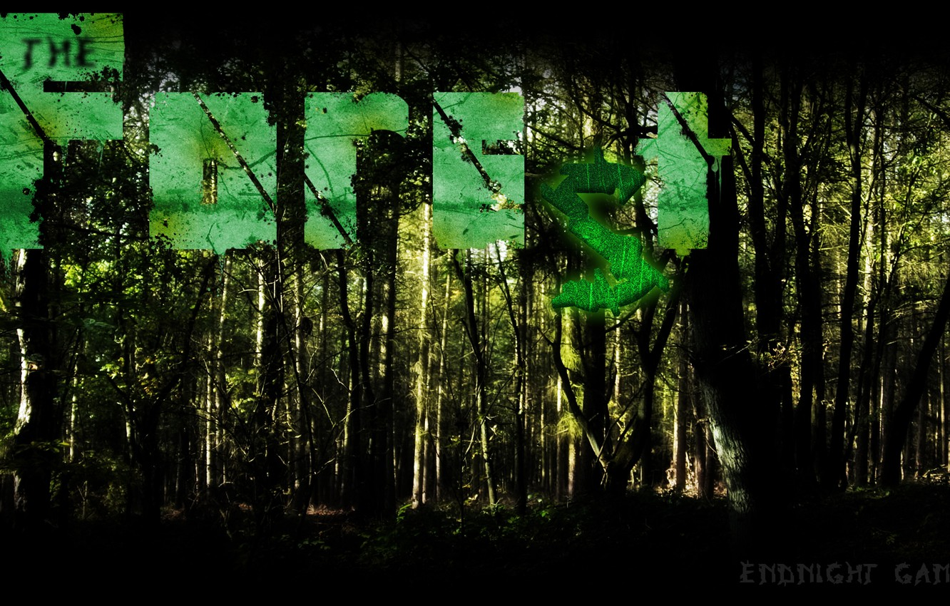 Photo wallpaper forest, horror, forest, survival