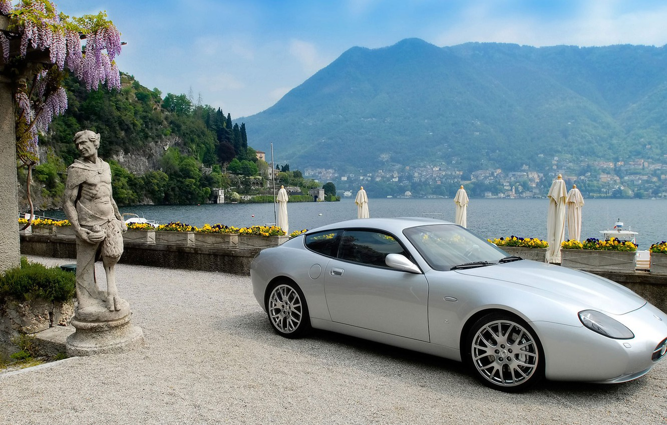 Photo wallpaper sea, mountains, Maserati, Zagato, GS