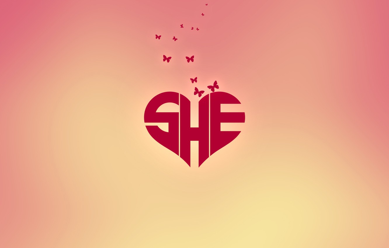 Photo wallpaper butterfly, background, the inscription, heart, it