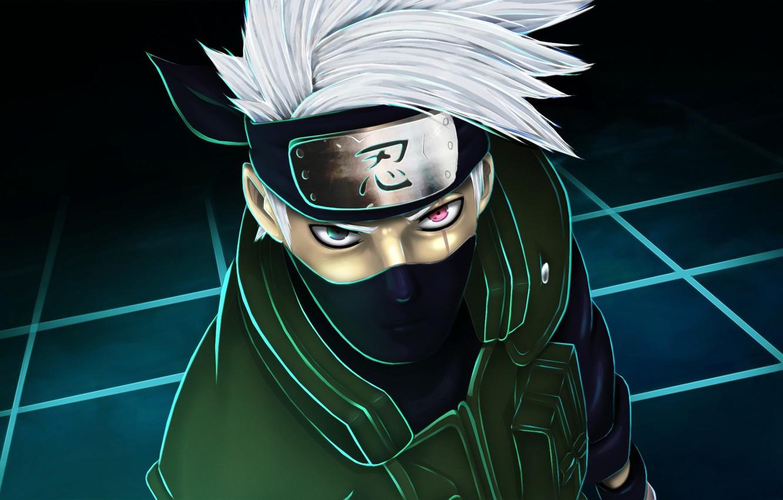Wallpaper logo, Naruto, eyes, man, face ...