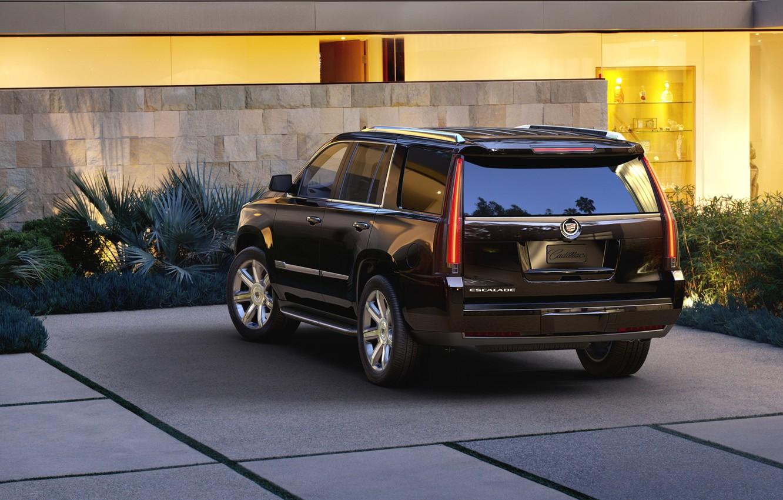 Wallpaper Background Black Jeep Suv Rear View Cadillac Escalade