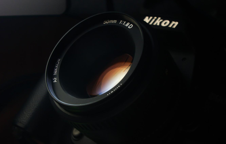 Photo wallpaper glass, photo, Wallpaper, camera, the camera, lens, lens, nikon, Nikon, Lunin Novel, 50 mm