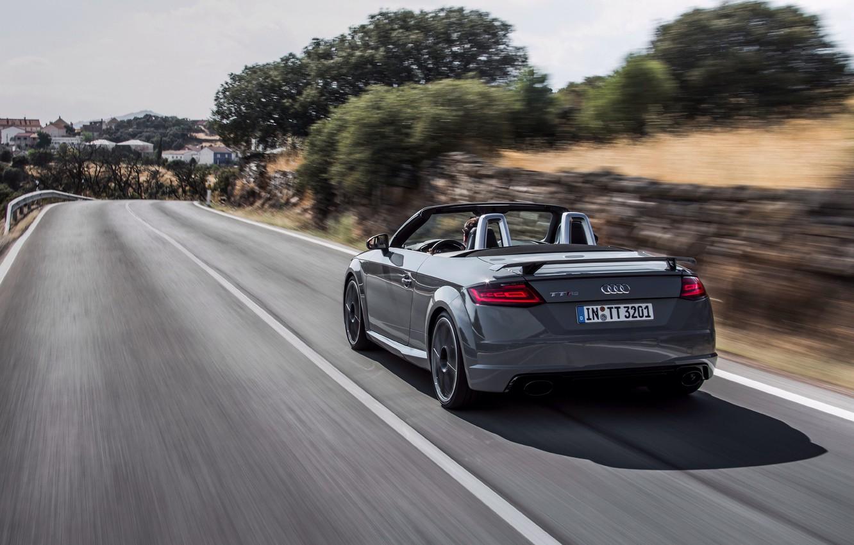 Photo wallpaper auto, Audi, convertible, rear view, Quattro, RS, TT