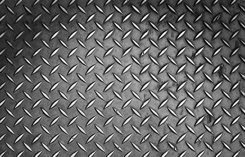 Photo wallpaper metal, grey, pattern