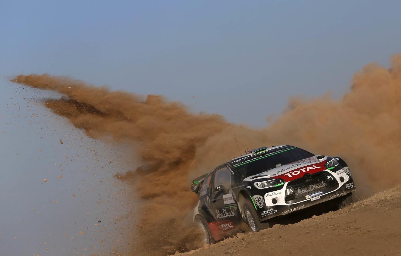 Photo wallpaper Dust, Citroen, DS3, WRC, Rally, Rally, Mads Ostberg