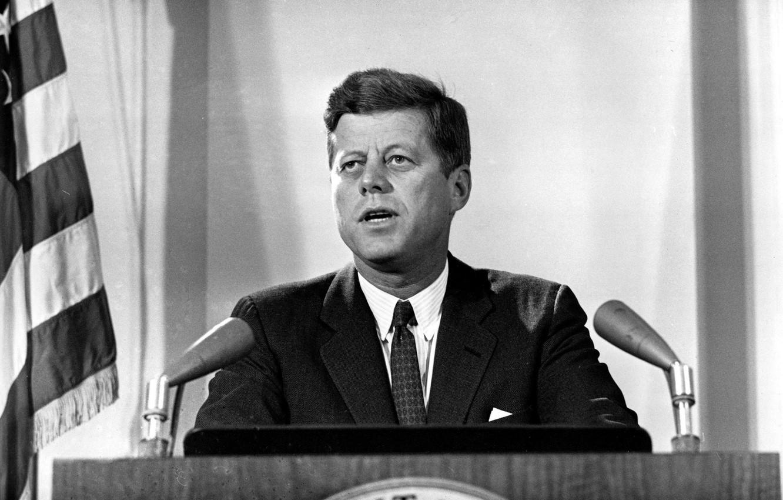 Photo wallpaper USA, tribune, John, John, Kennedy, Kennedy, Fitzgerald, JFK, The 35th President, Fitzgerald