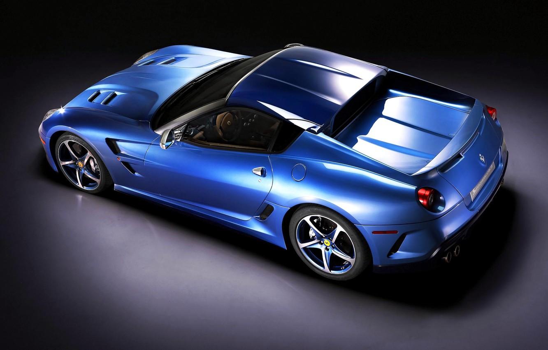 Photo wallpaper Machine, Ferrari, Ferrari, Car, Car, Blue, Sportcar, Superamerica