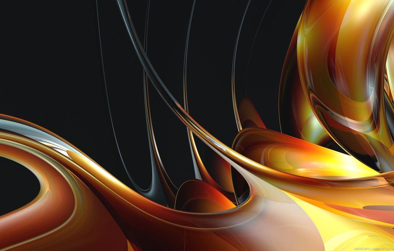 Photo wallpaper line, abstraction, color, honey