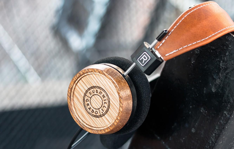 Photo wallpaper Headphones, Headphones, Whiskey, Bushmills, Grado Labs