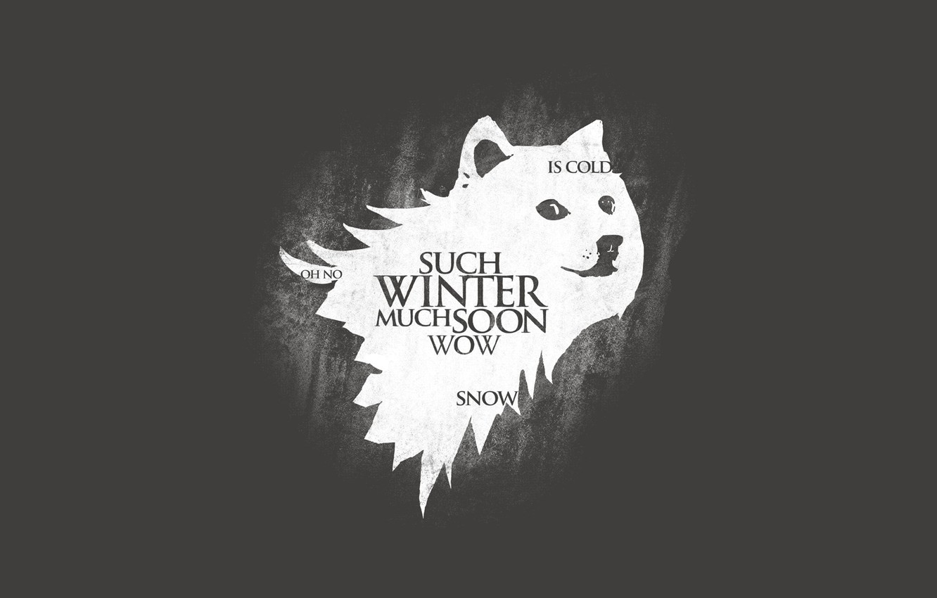 Photo wallpaper Start, Game of Thrones, Doge, Meme