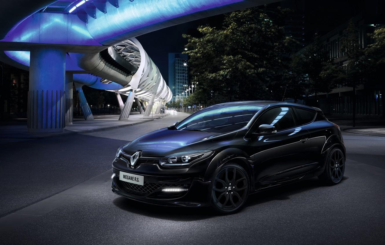 Photo wallpaper Renault, night, Megane