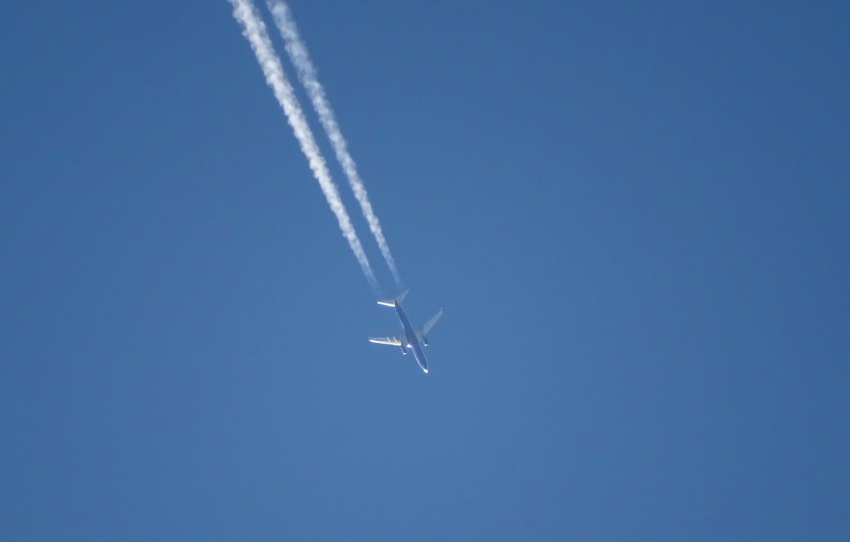 Photo wallpaper the sky, minimalism, the plane