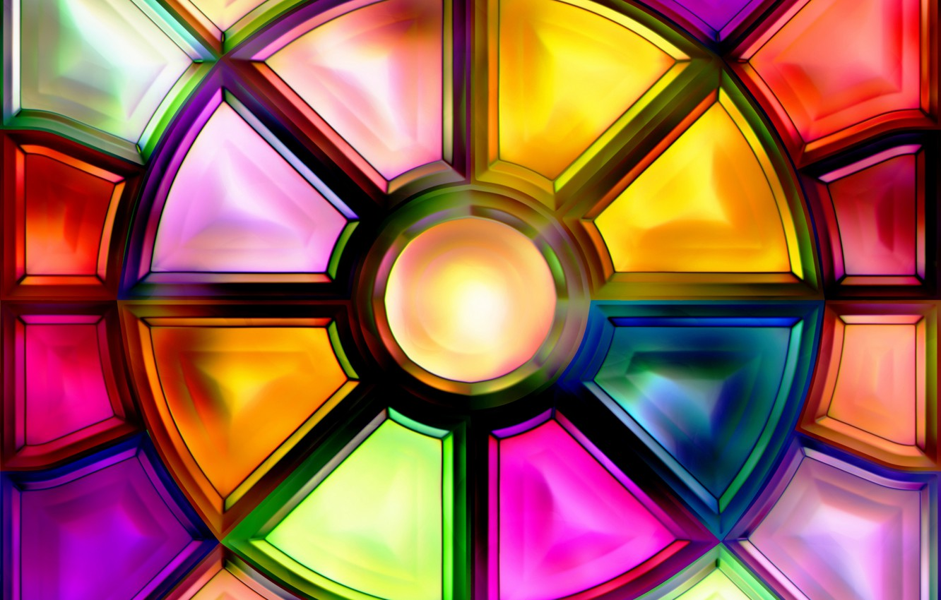 Wallpaper Background Abstract Stained Glass Glass