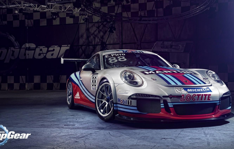 Photo wallpaper Top Gear, Porsche 911, GT3 Cup, Martini Racing