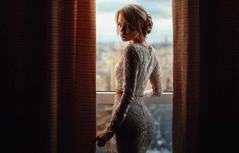 Photo wallpaper window, Nastya, George Chernyadev, Anastasia Shcheglova
