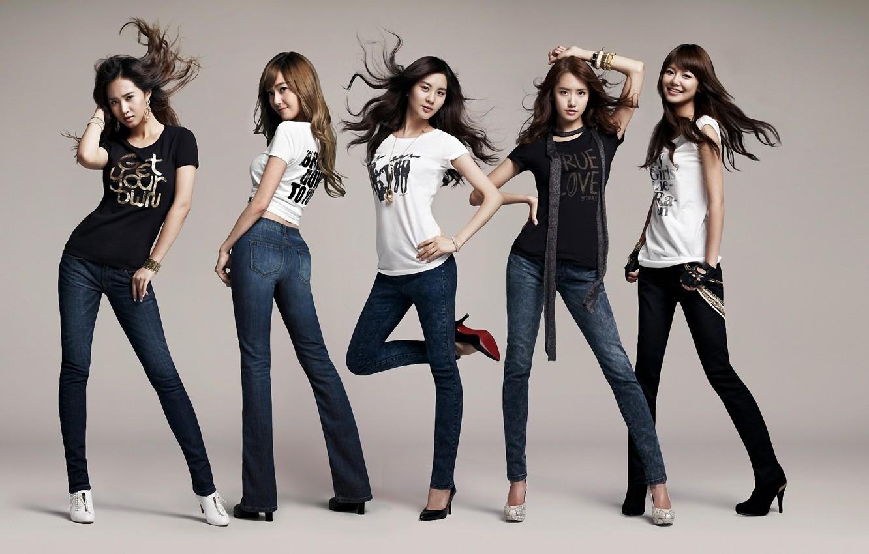 Photo wallpaper music, girls, hair, jeans, group, Asian girls, South Korea, SNSD, So Nye Will Shi Dae, …