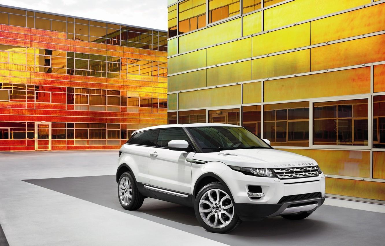 Photo wallpaper white, SUV, Range Rover, Evoque 2011