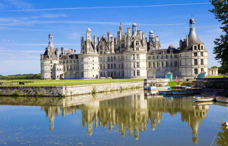 Photo wallpaper castle, France, Chateau de Chambord, Chateau Chambord