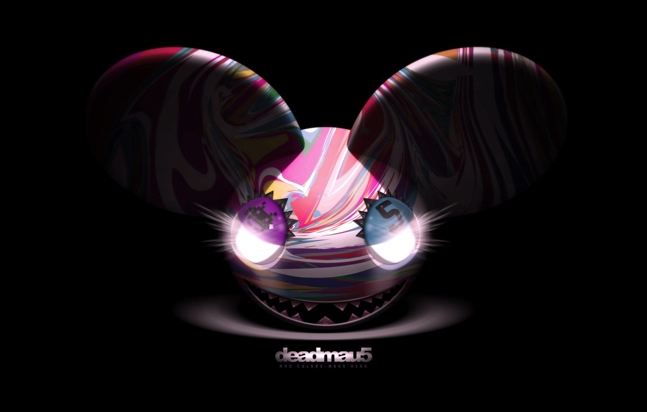 Photo wallpaper Music, Smile, Eyes, Background, Electro House, Deadmau5, Mouse, Progressive House, Deadmaus, Ears