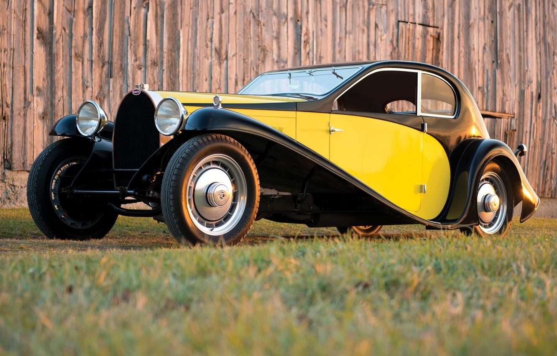 Photo wallpaper machine, retro, Bugatti, Coupe, 1930, Superprofile, Type 46