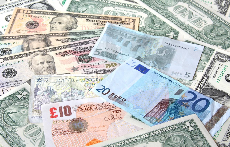 Photo wallpaper colors, money, ink, bills, currency